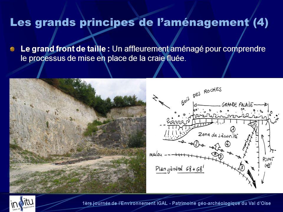 1ère journée de lEnvironnement IGAL - Patrimoine géo-archéologique du Val dOise Le grand front de taille : Un affleurement aménagé pour comprendre le