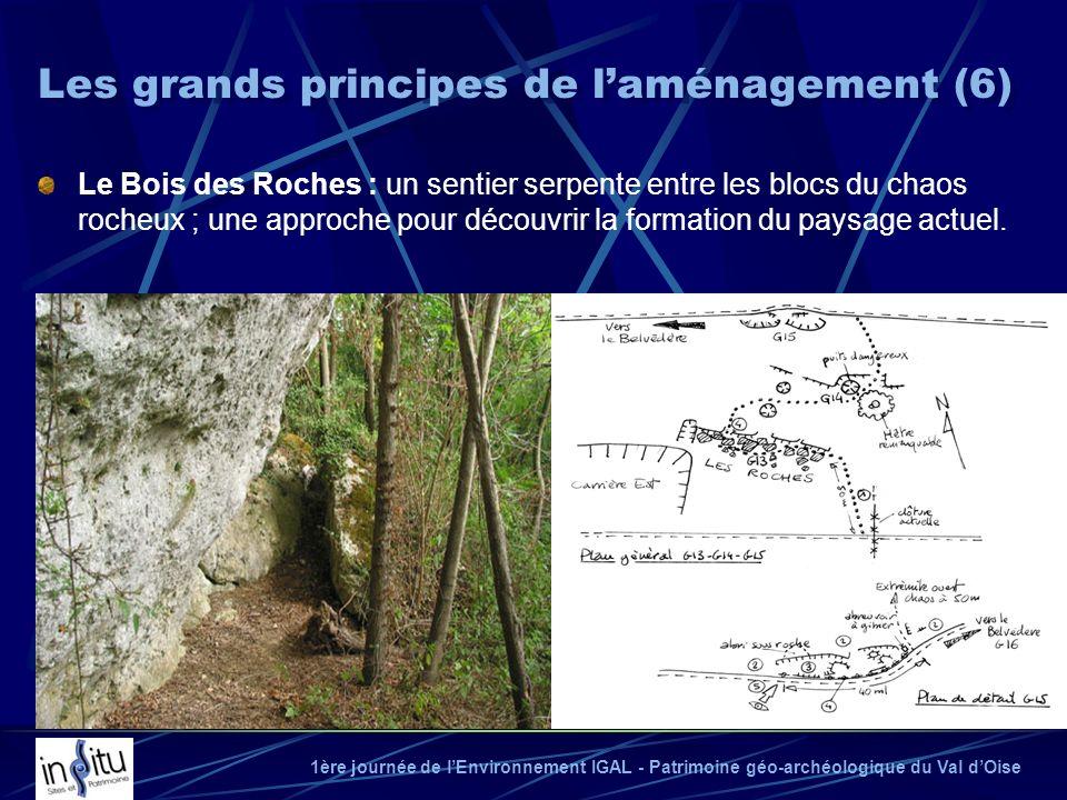 1ère journée de lEnvironnement IGAL - Patrimoine géo-archéologique du Val dOise Le Bois des Roches : un sentier serpente entre les blocs du chaos roch