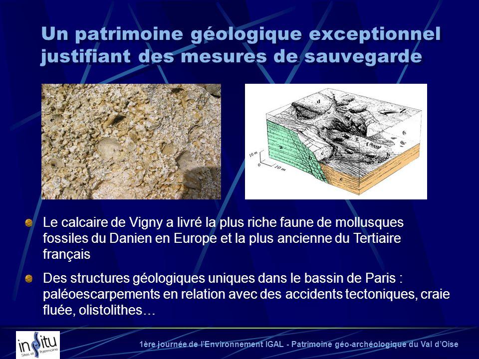1ère journée de lEnvironnement IGAL - Patrimoine géo-archéologique du Val dOise Le calcaire de Vigny a livré la plus riche faune de mollusques fossile