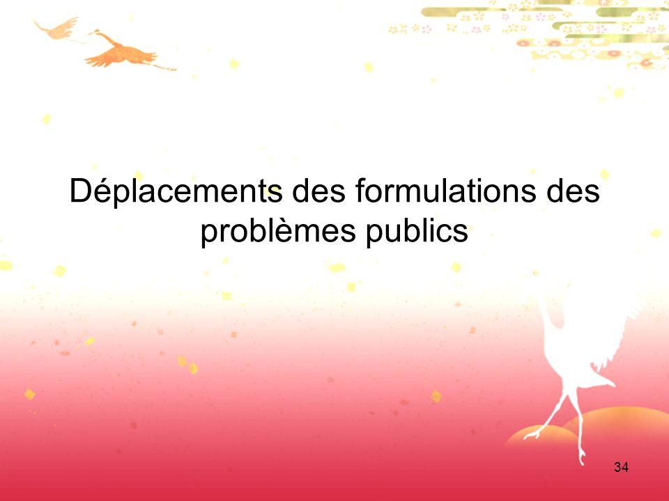 34 Déplacements des formulations des problèmes publics