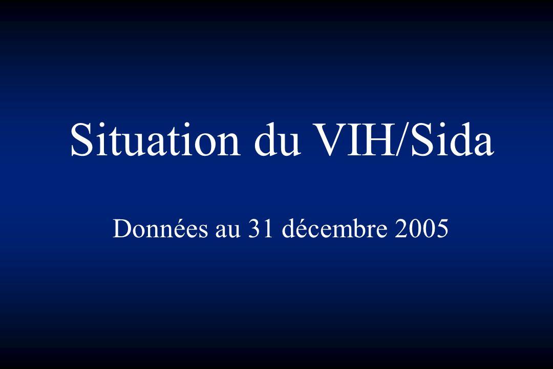 Cas de Sida domiciliés en Basse-Normandie par année de diagnostic Décès par année de décès Et nombre de cas vivants au 31 décembre de chaque année (données au 31 décembre 2005)