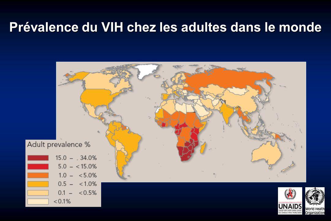 Prévalence du VIH chez les adultes dans le monde 2.4