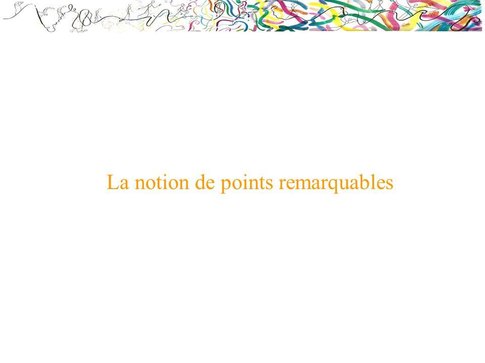 La notion de points remarquables
