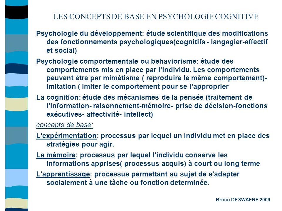 Psychologie du développement: étude scientifique des modifications des fonctionnements psychologiques(cognitifs - langagier-affectif et social) Psycho