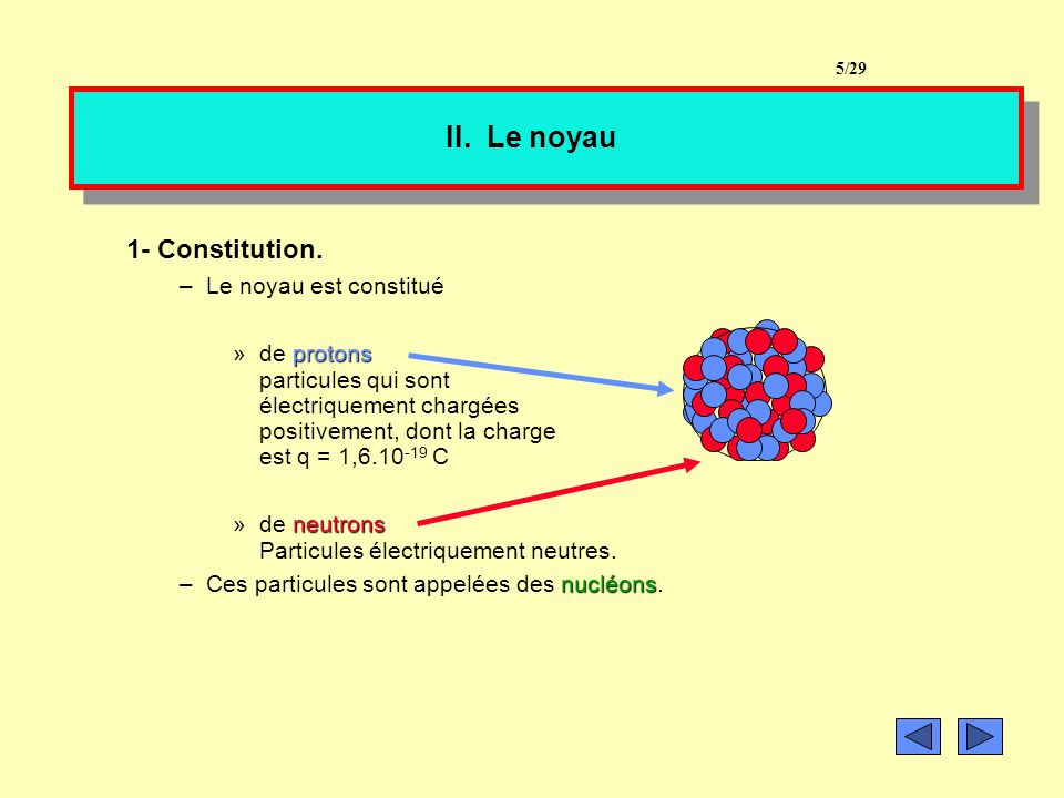 II.Le noyau 1- Constitution.