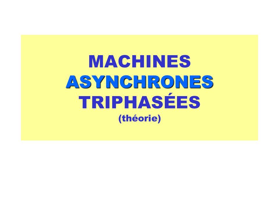 Machines Asynchrones 4-7 Puissance de la machine asynchrone P jRot = 3 r 2 * I 2 2 Remarques : P Trans = 3 r 2 /g * I 2 2 P jRot = g * P Trans On en déduit : P U + P méc = P Trans – P jRot P Trans = P FRot + P jRot + P méc + P U P méc = souvent négligeable P U = (1-g) * P Trans