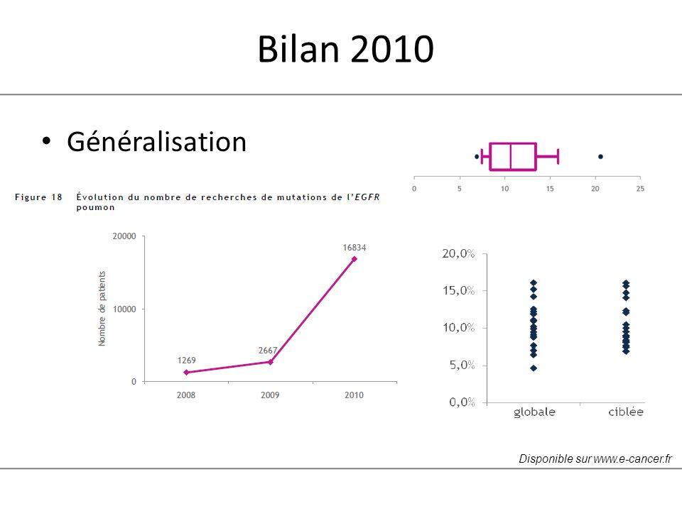 Bilan 2010 Généralisation Disponible sur www.e-cancer.fr
