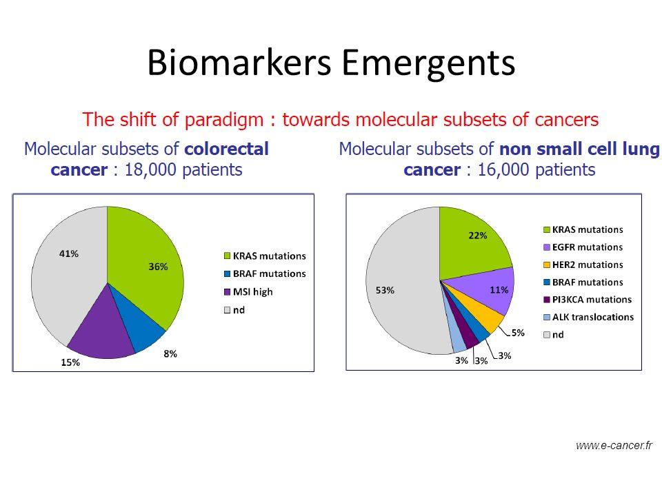 www.e-cancer.fr Biomarkers Emergents