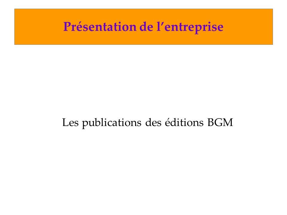 Autres travaux Architecture réseau des éditions BGM
