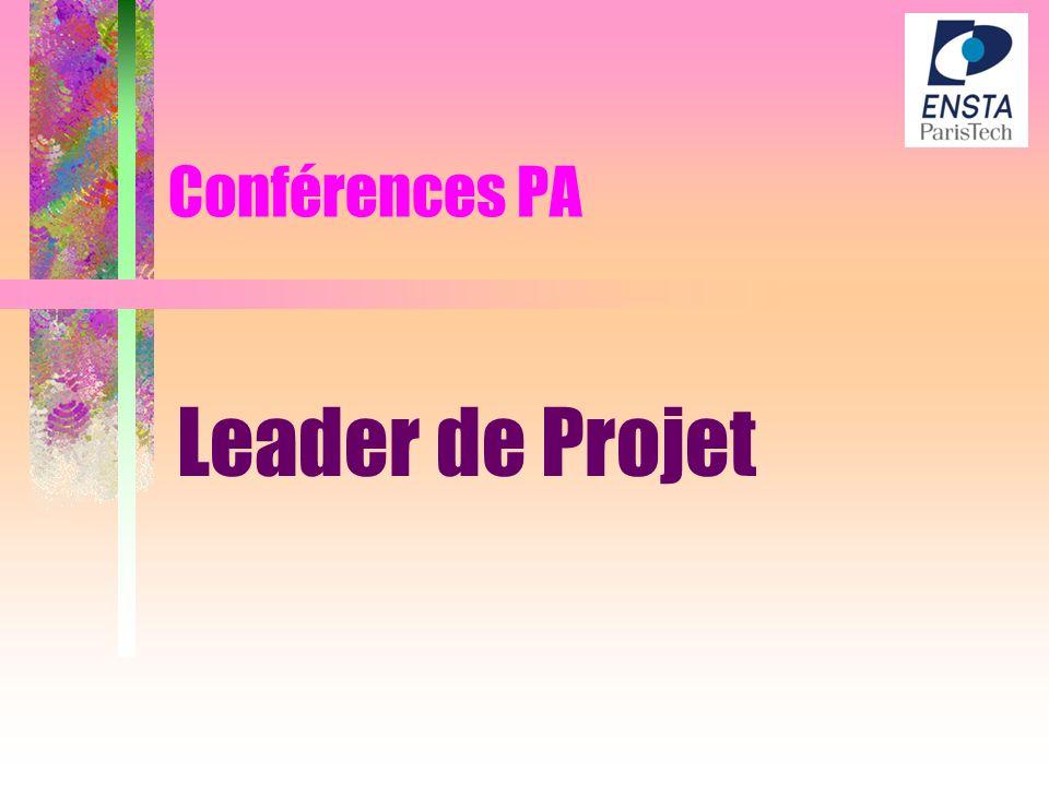 Conférences PA Leader de Projet