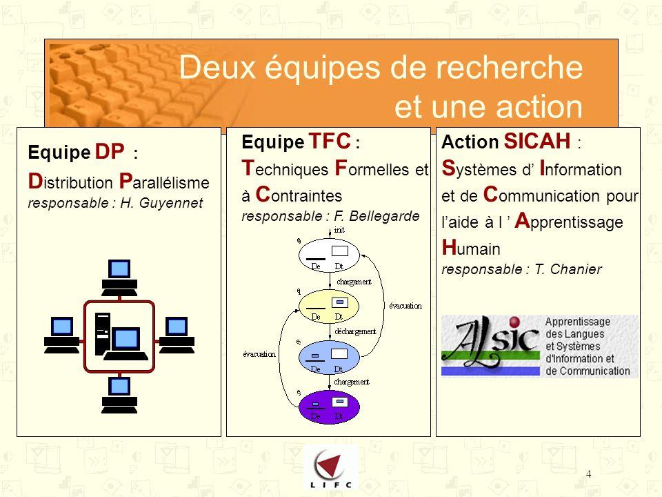 4 Deux équipes de recherche et une action Equipe DP : D istribution P arallélisme responsable : H.