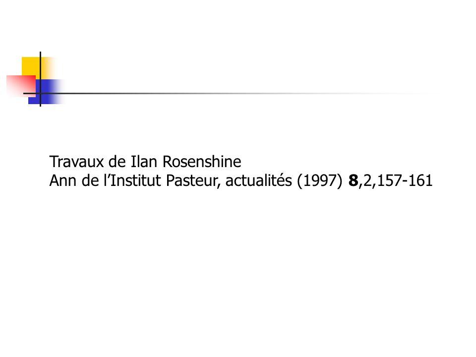Travaux de Ilan Rosenshine Ann de lInstitut Pasteur, actualités (1997) 8,2,157-161