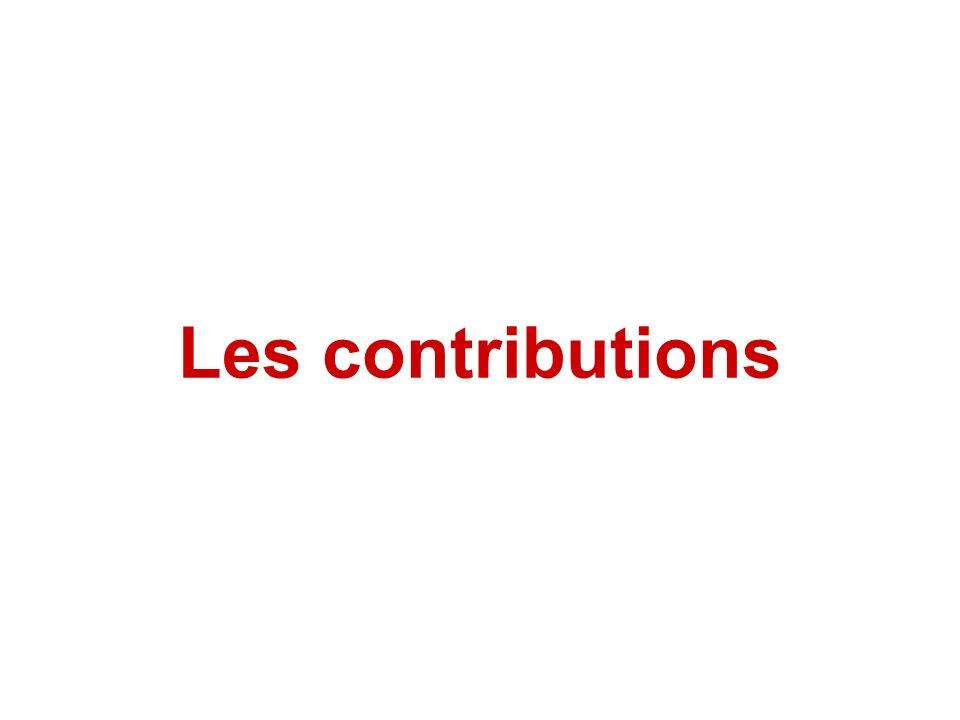 Les contributions
