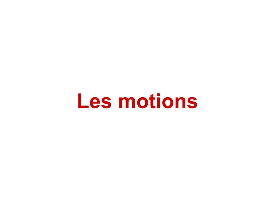 Les motions