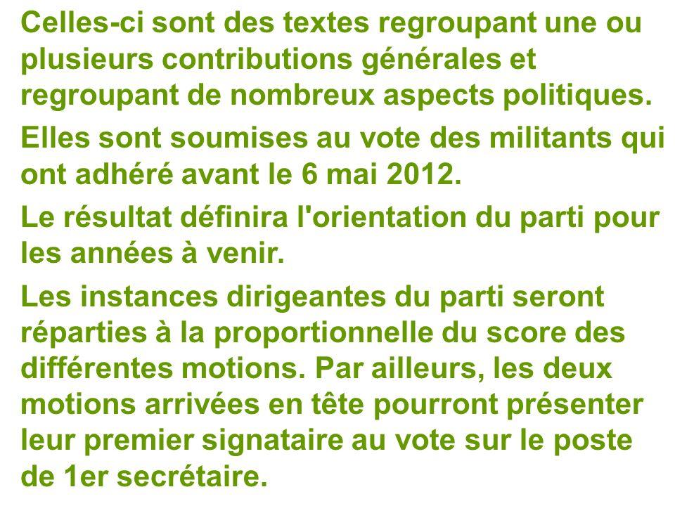 Celles-ci sont des textes regroupant une ou plusieurs contributions générales et regroupant de nombreux aspects politiques.