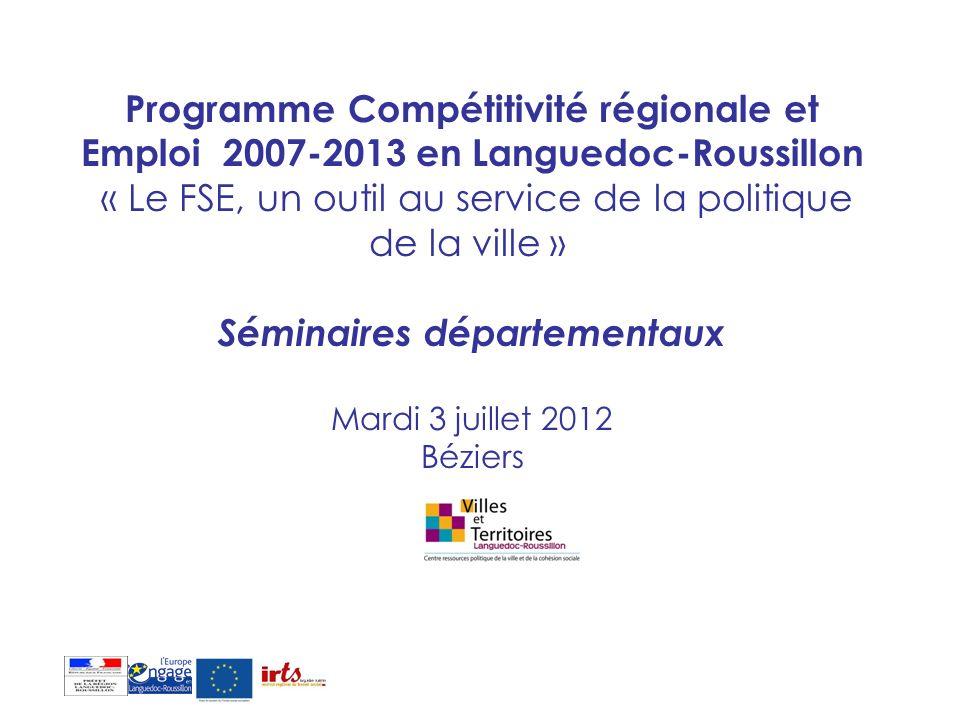 LADDITIONNALITE : crédits de droit commun et crédits spécifiques LE PARTENARIAT : mise en réseaux des acteurs LA COMMUNICATION :obligatoire pour lensemble des programmes européens