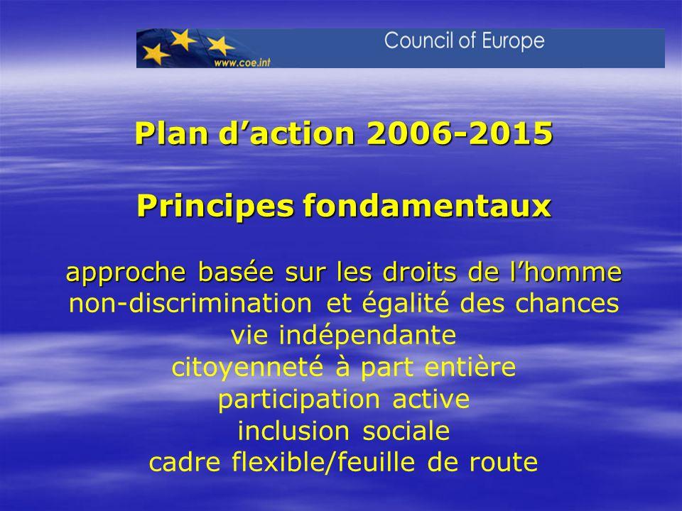 Plan daction 2006-2015 Principes fondamentaux approche basée sur les droits de lhomme Plan daction 2006-2015 Principes fondamentaux approche basée sur