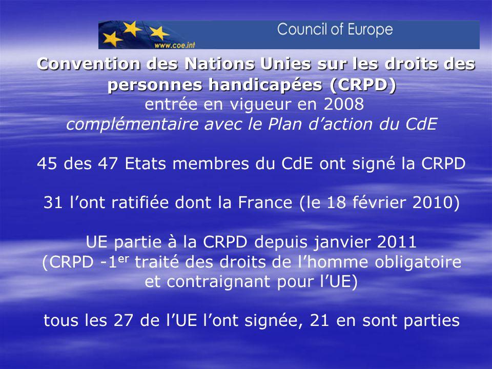 Convention des Nations Unies sur les droits des personnes handicapées (CRPD) Convention des Nations Unies sur les droits des personnes handicapées (CR