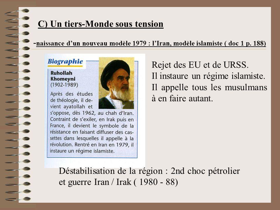 C) Un tiers-Monde sous tension - naissance dun nouveau modèle 1979 : lIran, modèle islamiste ( doc 1 p.