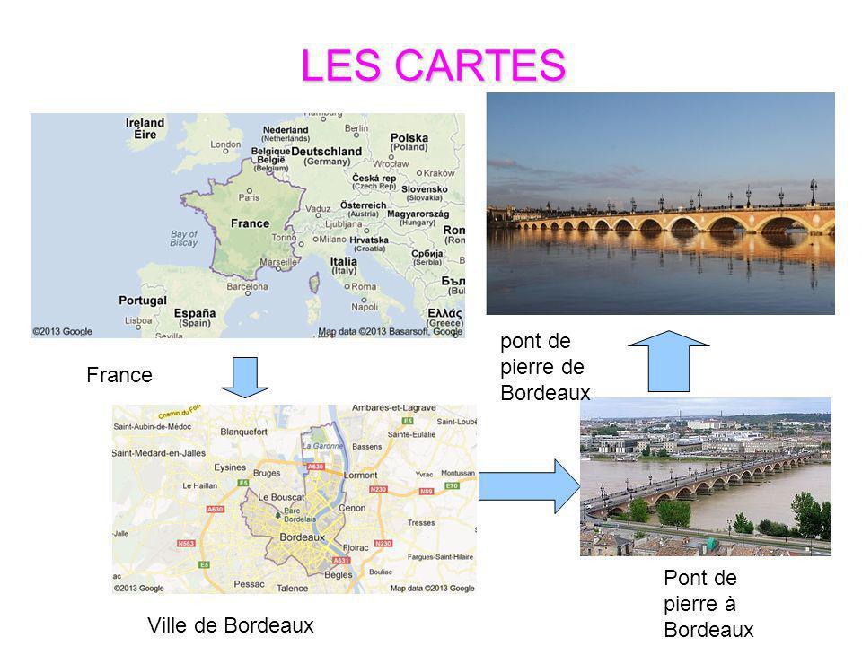 Ville de Bordeaux France pont de pierre de Bordeaux Pont de pierre à Bordeaux LES CARTES