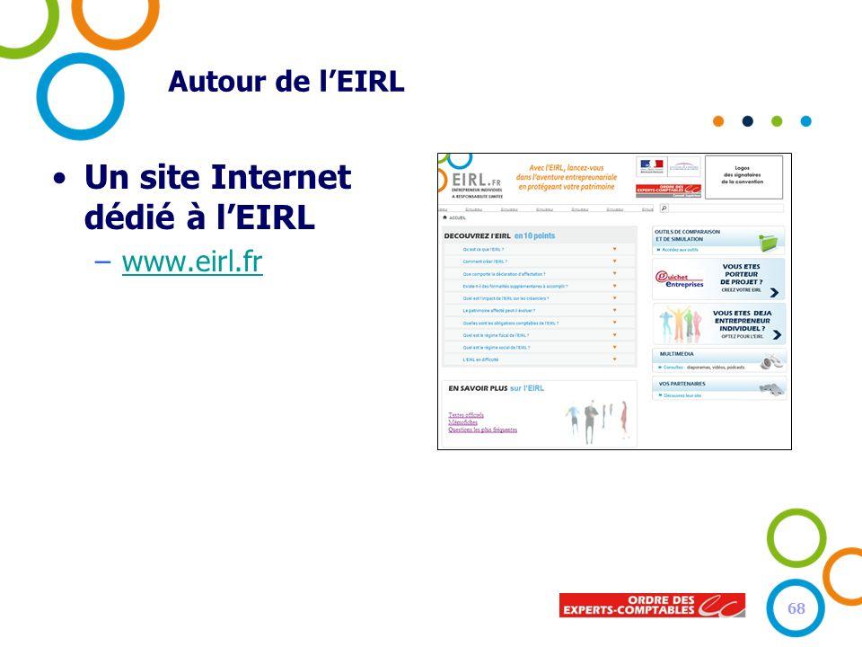 Autour de lEIRL Un site Internet dédié à lEIRL –www.eirl.frwww.eirl.fr 68