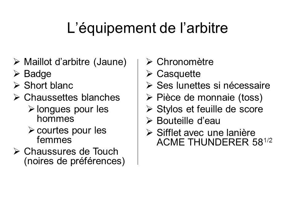 Léquipement de larbitre Maillot darbitre (Jaune) Badge Short blanc Chaussettes blanches longues pour les hommes courtes pour les femmes Chaussures de