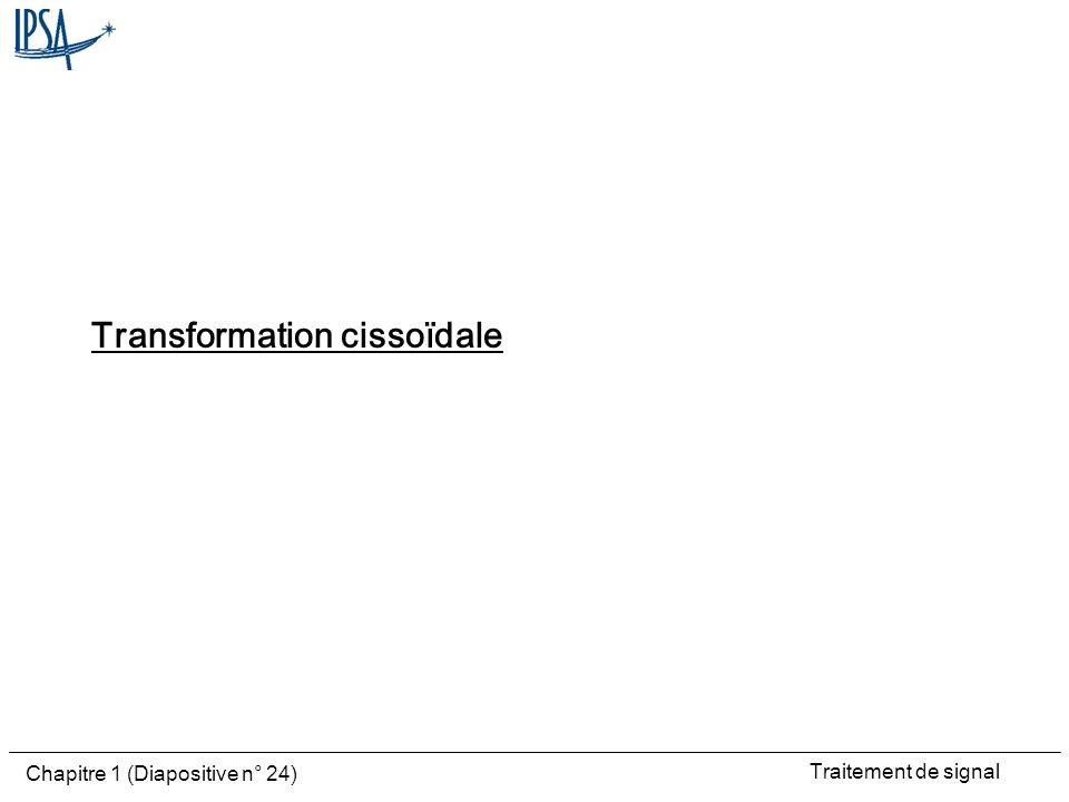 Traitement de signal Chapitre 1 (Diapositive n° 24) Transformation cissoïdale