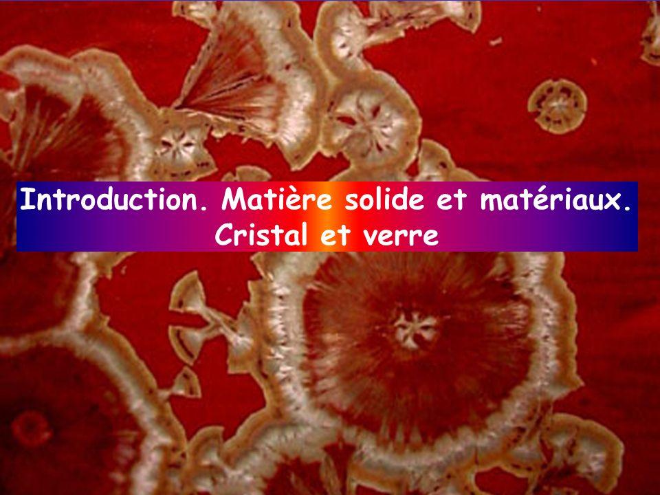 Au-delà de la nature des atomes… …de la nécessité de connaître la structure Composition chimique Organisation inter-atomique, structure Microstruture Architecture Liaison chimique Écart à la structure parfaite, défauts Texture Propriétés physiques des matériaux Matériaux Objets