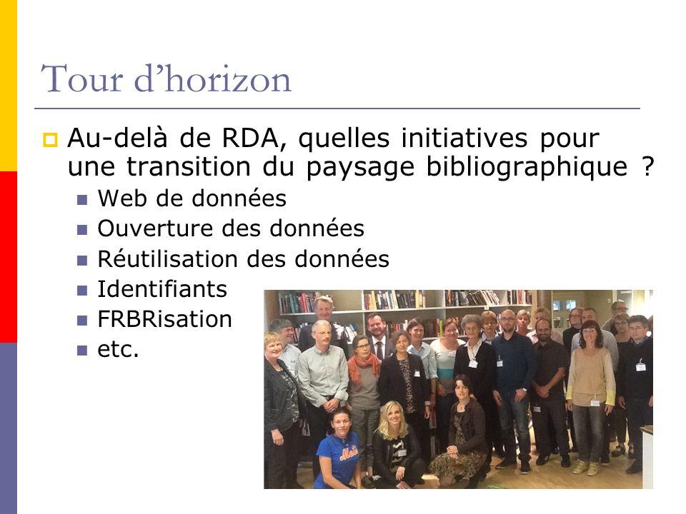 Tour dhorizon Au-delà de RDA, quelles initiatives pour une transition du paysage bibliographique .