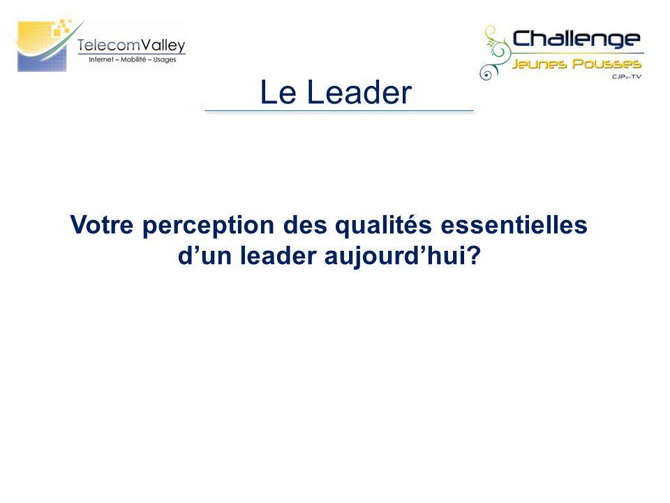 Le Leader Votre perception des qualités essentielles dun leader aujourdhui?