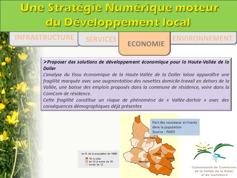 ENVIRONNEMENT INFRASTRUCTURE SERVICES ECONOMIE Proposer des solutions de développement économique pour la Haute-Vallée de la Doller Lanalyse du tissu