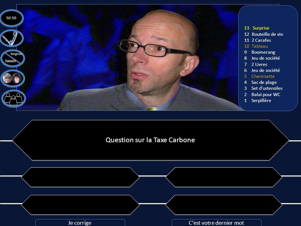 Question n°13: En prenant en compte du réchauffement climatique et des émissions de CO2 provoquées par les avions, combien darbres faudrait-il planter