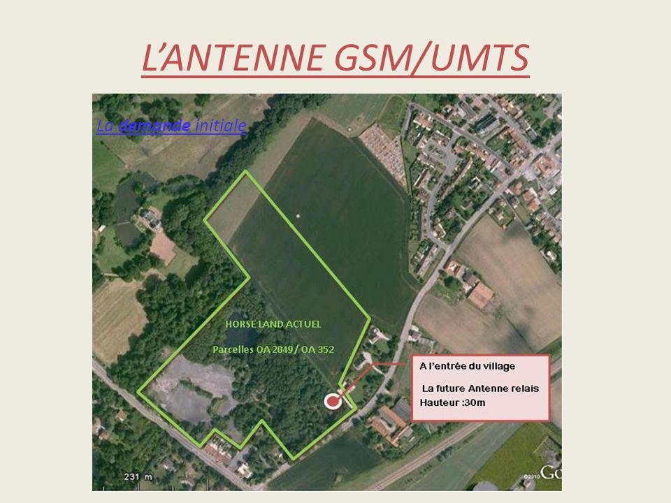 LANTENNE GSM/UMTS La demande initiale