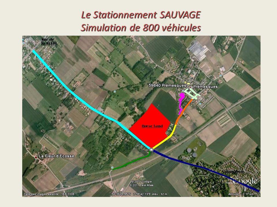 Le Stationnement SAUVAGE Simulation de 800 véhicules
