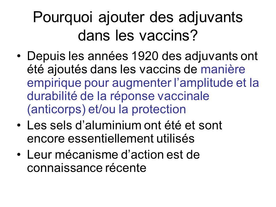 Pourquoi ajouter des adjuvants dans les vaccins.