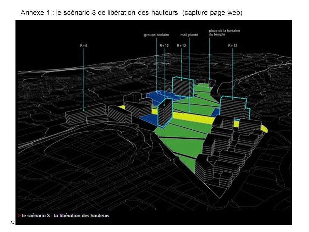 Annexe 1 : le scénario 3 de libération des hauteurs (capture page web) 14