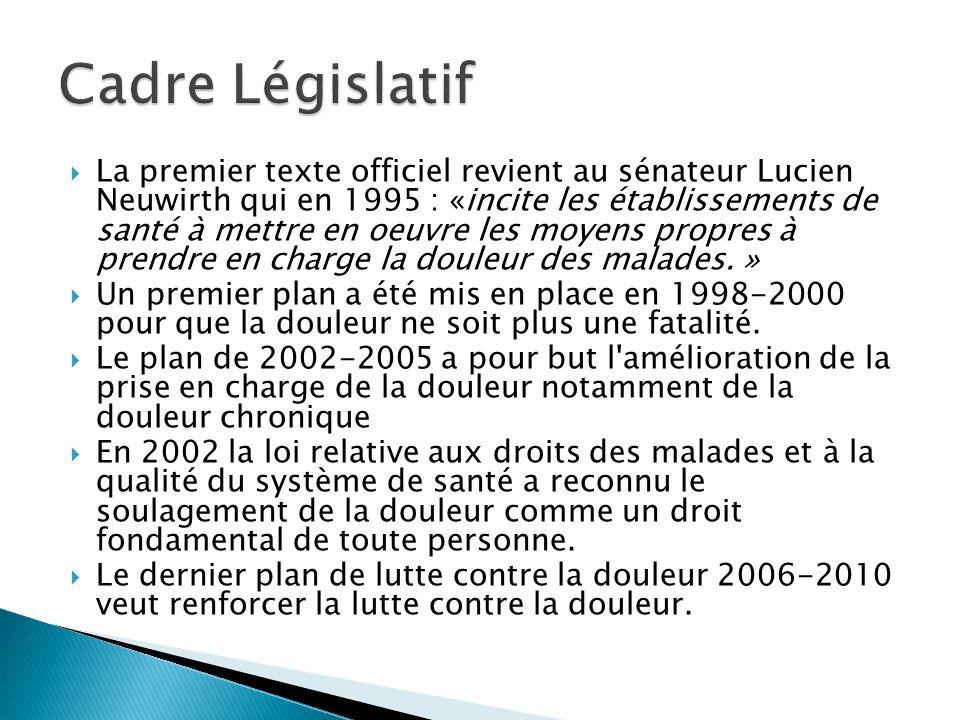 La premier texte officiel revient au sénateur Lucien Neuwirth qui en 1995 : «incite les établissements de santé à mettre en oeuvre les moyens propres
