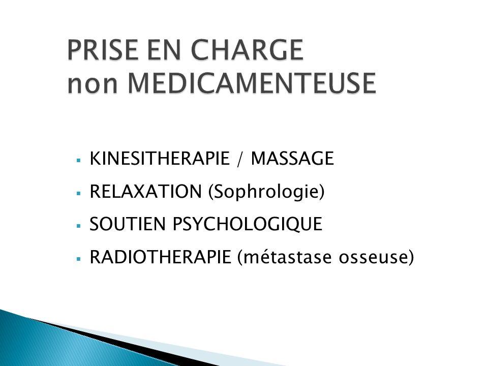 KINESITHERAPIE / MASSAGE RELAXATION (Sophrologie) SOUTIEN PSYCHOLOGIQUE RADIOTHERAPIE (métastase osseuse)