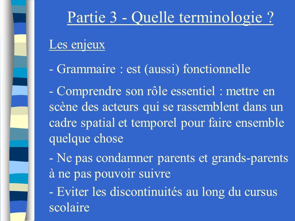Partie 3 - Quelle terminologie ? Les enjeux - Comprendre son rôle essentiel : mettre en scène des acteurs qui se rassemblent dans un cadre spatial et