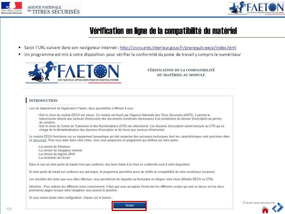 Saisir lURL suivant dans son navigateur Internet : http://www.ants.interieur.gouv.fr/prerequis-eeca/index.htmlhttp://www.ants.interieur.gouv.fr/prereq