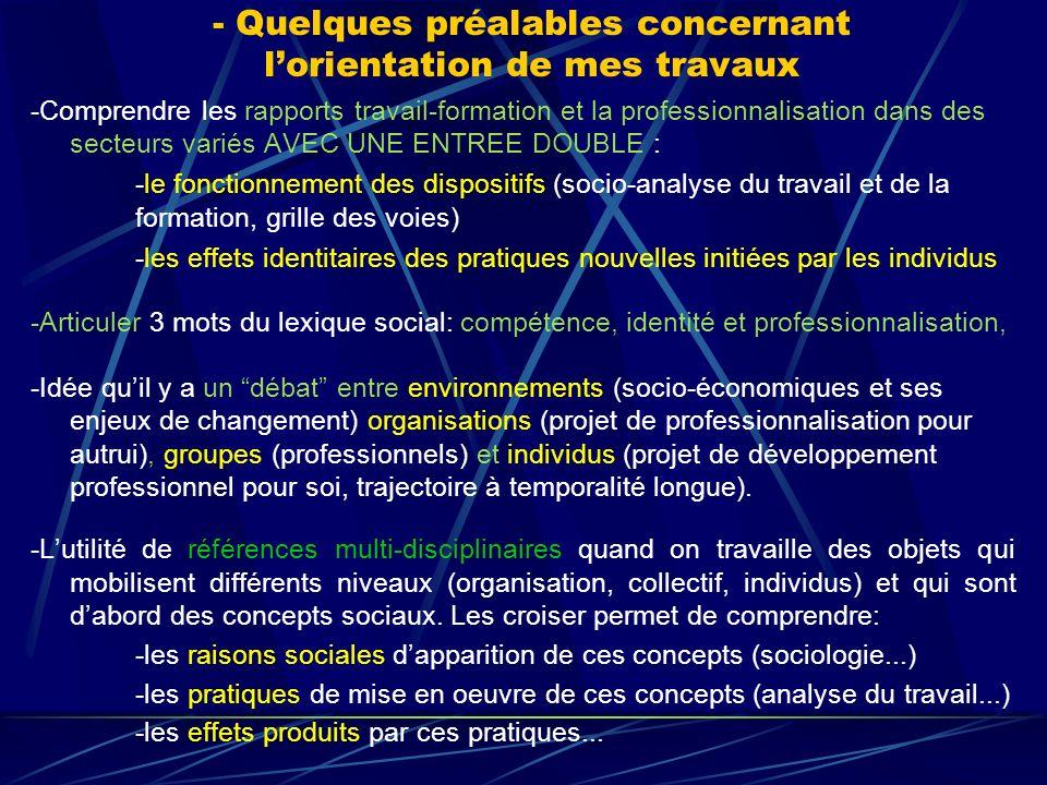 -Ces particularités des « objets humains » ont des incidences sur la formation des professionnels.