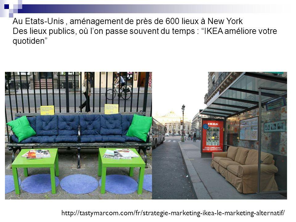 Au Etats-Unis, aménagement de près de 600 lieux à New York Des lieux publics, où lon passe souvent du temps : IKEA améliore votre quotiden http://tast