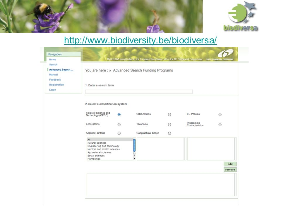 http://www.biodiversity.be/biodiversa/