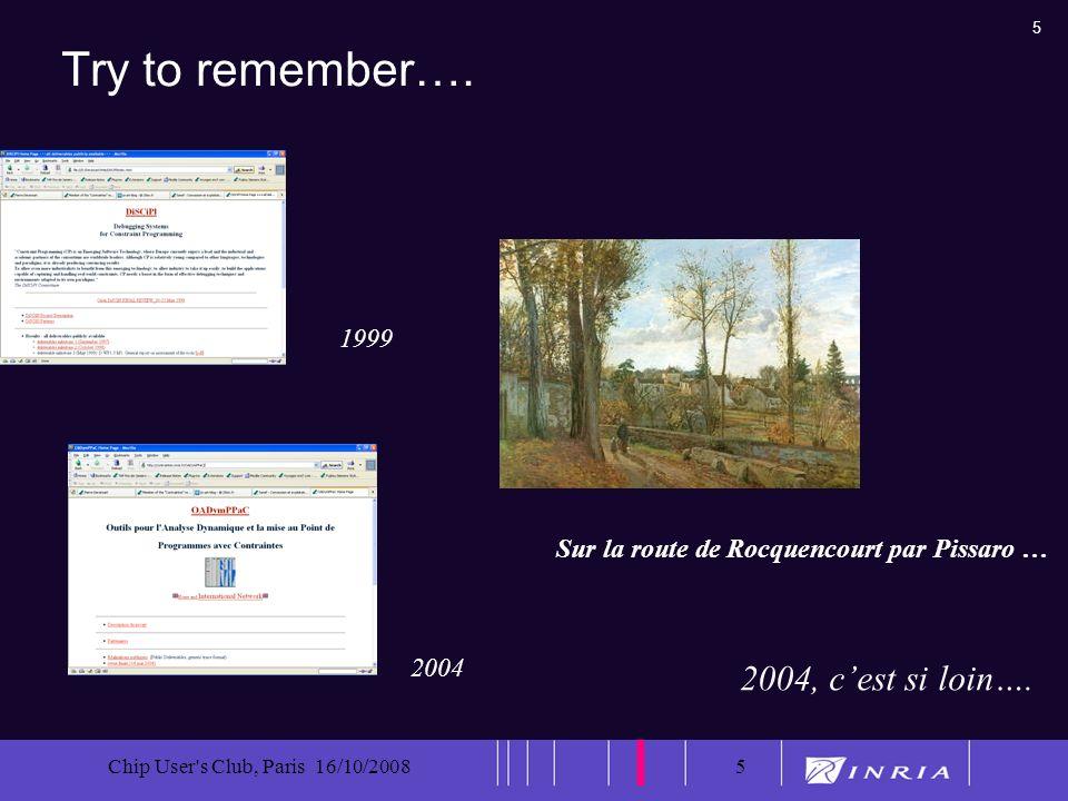 6 Chip User s Club, Paris 16/10/20086