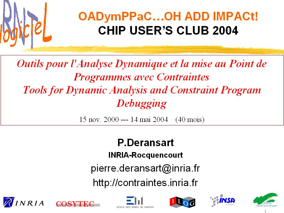 6 Chip User's Club, Paris 16/10/20086