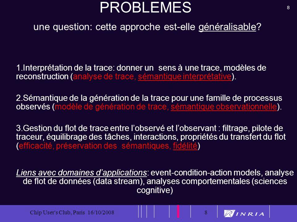 19 Chip User s Club, Paris 16/10/200819 Modélisation et abstraction (généricité)