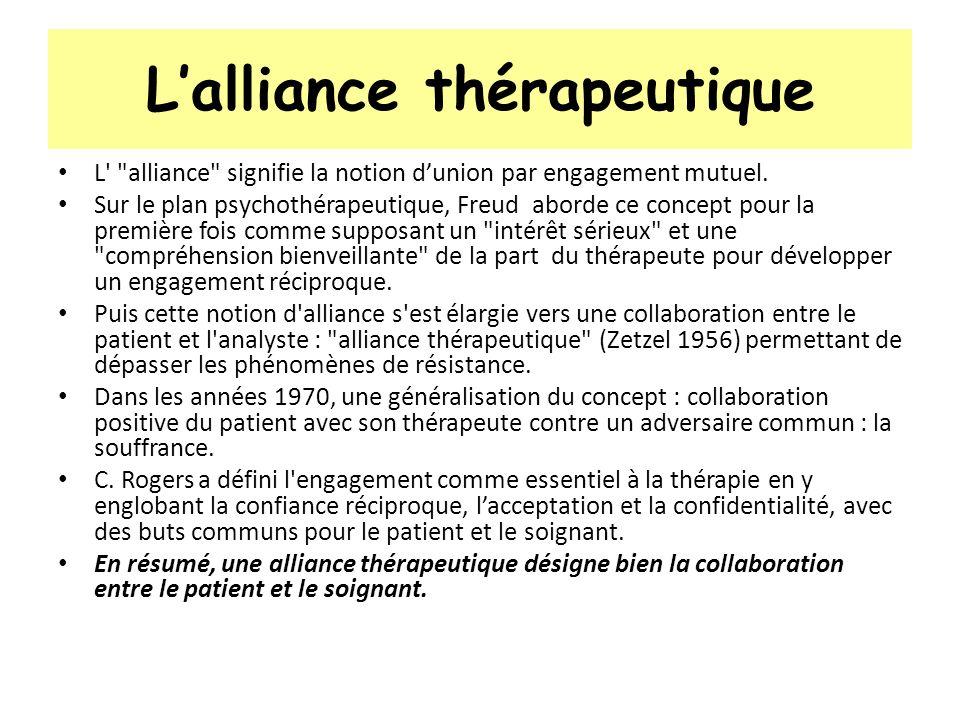 Lalliance thérapeutique L'