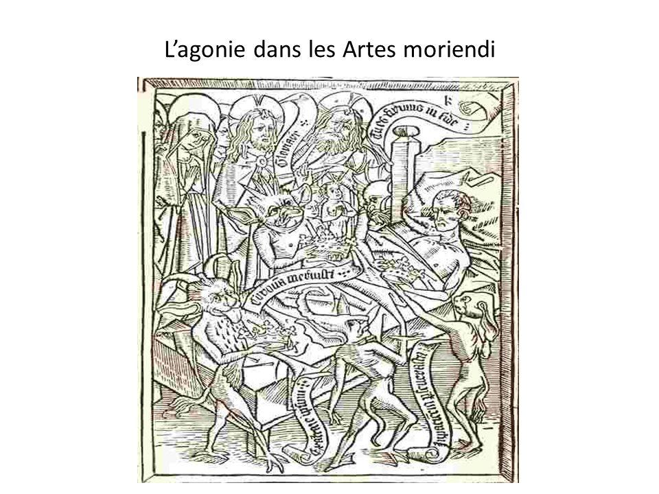 Lagonie dans les Artes moriendi