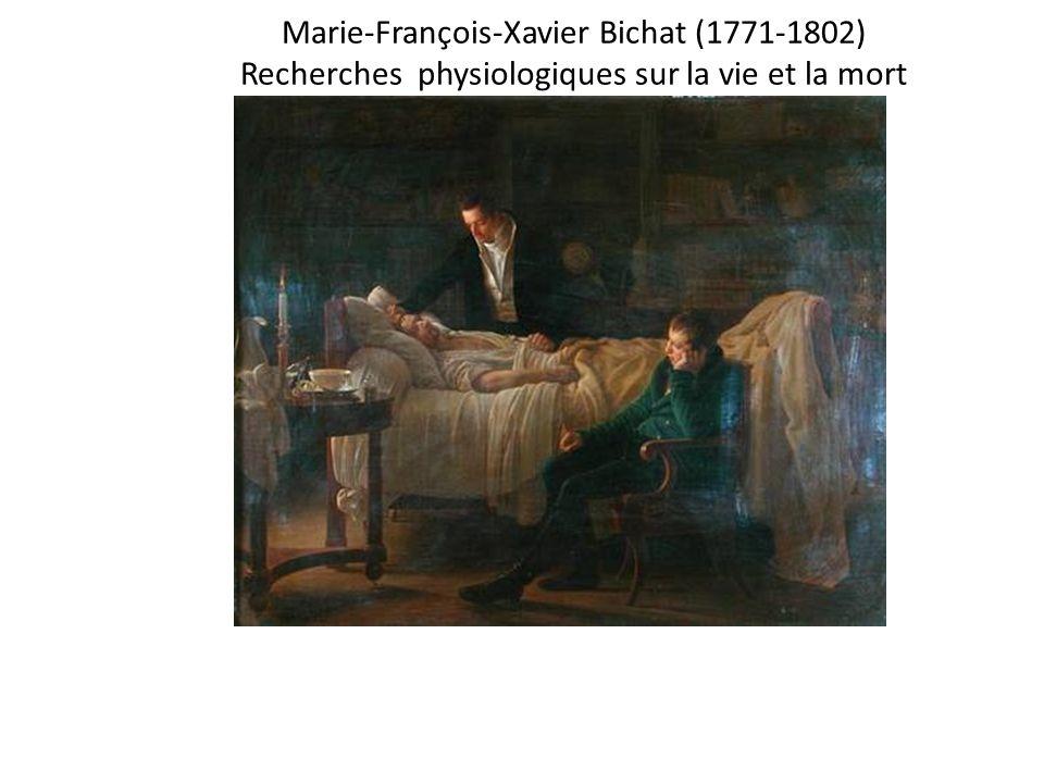 Marie-François-Xavier Bichat (1771-1802) Recherches physiologiques sur la vie et la mort Xav