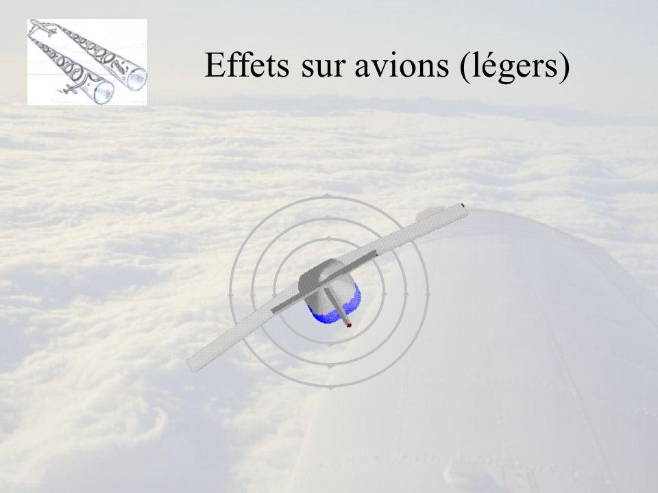 Effets sur avions (légers)